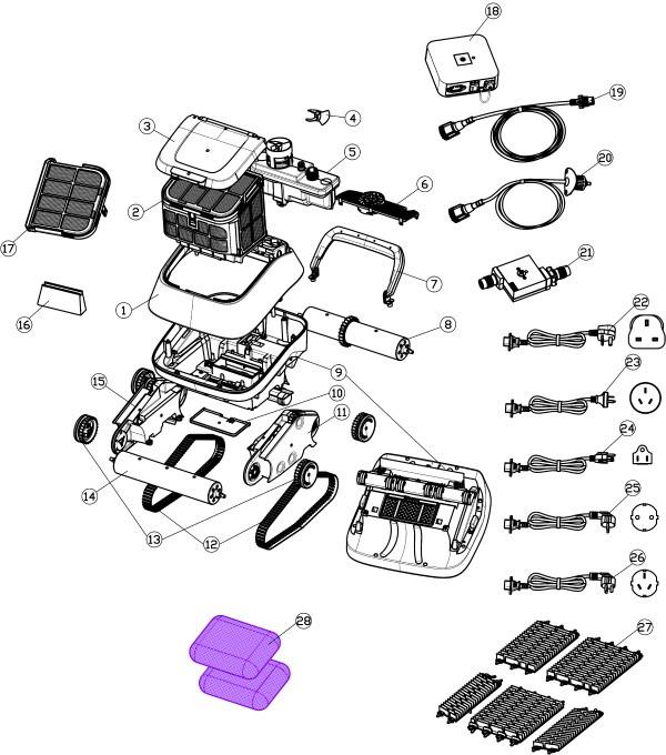 Vue éclatée robot 8streme 7310 version 2020